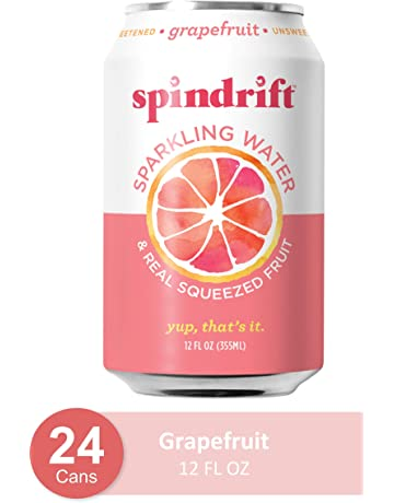 Spindrift Sparkling Water, Grapefruit Flavored, Made with Real Squeezed Fruit, 12 Fl Oz Cans, Pack of 24 (Only 15 Calories per Seltzer Water Can)