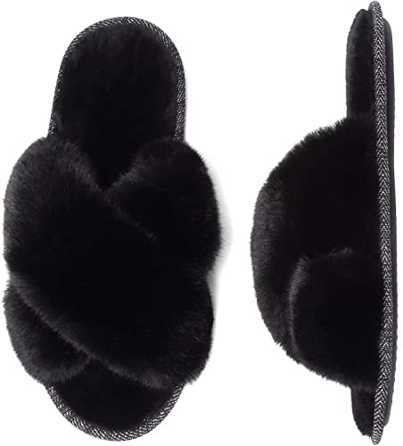 Mabove Womens Slippers Ladies Fluffy
