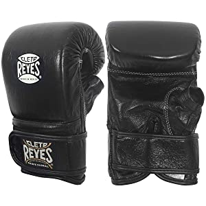 Best Boxing Gloves for Muay Thai - Cleto Reyes Leather Boxing Bag Gloves - Black