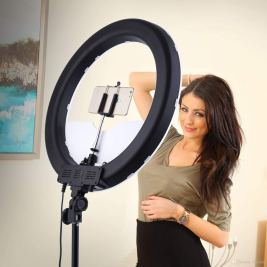 mobicell 10 Inches Big LED Ring Light for Camera Smartphone to Capture Your Photo and Video at Tiktok, Musically and Other Phone's App with Tripod