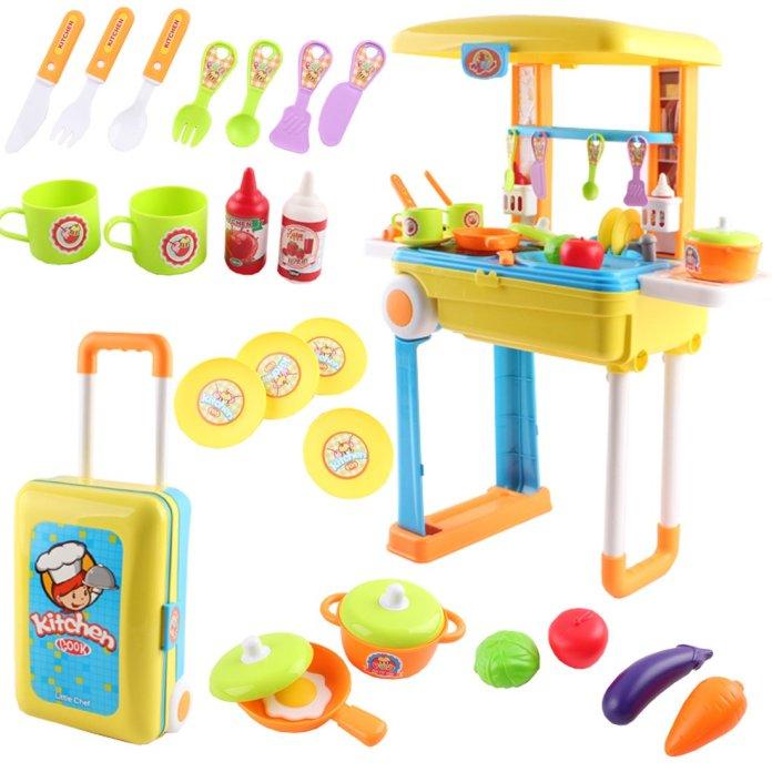 Cocina maletín plegable con luces y sonido. Esta cocinita de juguete ... ea4f823344a8