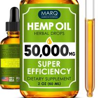 Hemp Oil Drops (50000MG) - Best Natural Hemp Seed Oil - Premium Colorado Seed Extract - Only Natural Ingredients - for Pain and Inflammation Relief, Reduces Stress and Anxiety, Provides Restful Sleep
