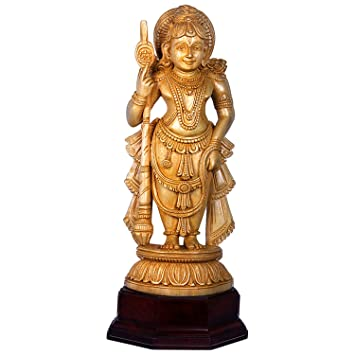 Image result for wood carved udupi krishna idol