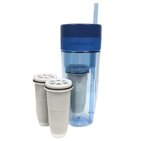 ZeroWater 26oz Portable Filtration Tumbler and 2-Pack Tumbler Replacement Filters - ZT-M01