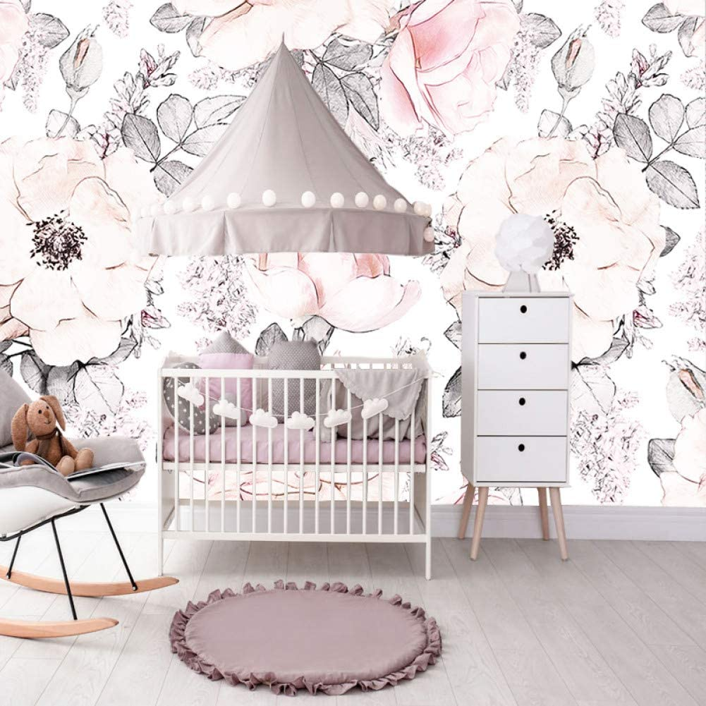 Huangyahui Wallpaper Girls Bedroom Floral Wallpapers Wall Papers 125cm W X 80cm H Amazon Co Uk Kitchen Home