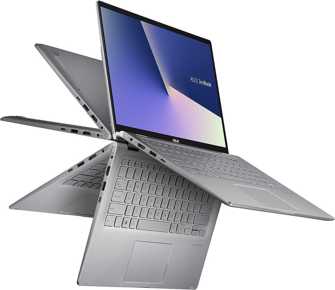 """Asus Zenbook Flip UM462DA-AI028T PC Portable 14"""" FHD Tactile (AMD R5-3500U, RAM 8Go, 512Go SSD, Windows 10) Clavier AZERTY Français"""