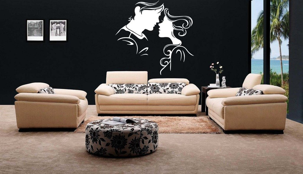 Buy Decor Kafe Home Decor Sweet Couple Wall Sticker Wall Sticker For Bedroom Wall Art Wall Poster Pvc Vinyl 40 X 40 Cm Online At Low Prices In India Amazon In