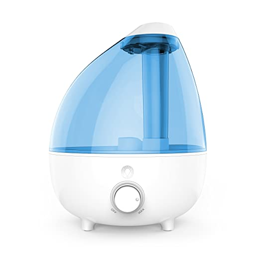 MistAire XL Ultrasonic Cool Mist Humidifier for Large Rooms – 1-Gallon Water Tank with Variable Mist Control, Automatic Shut-Off, and Soft Night Light Options