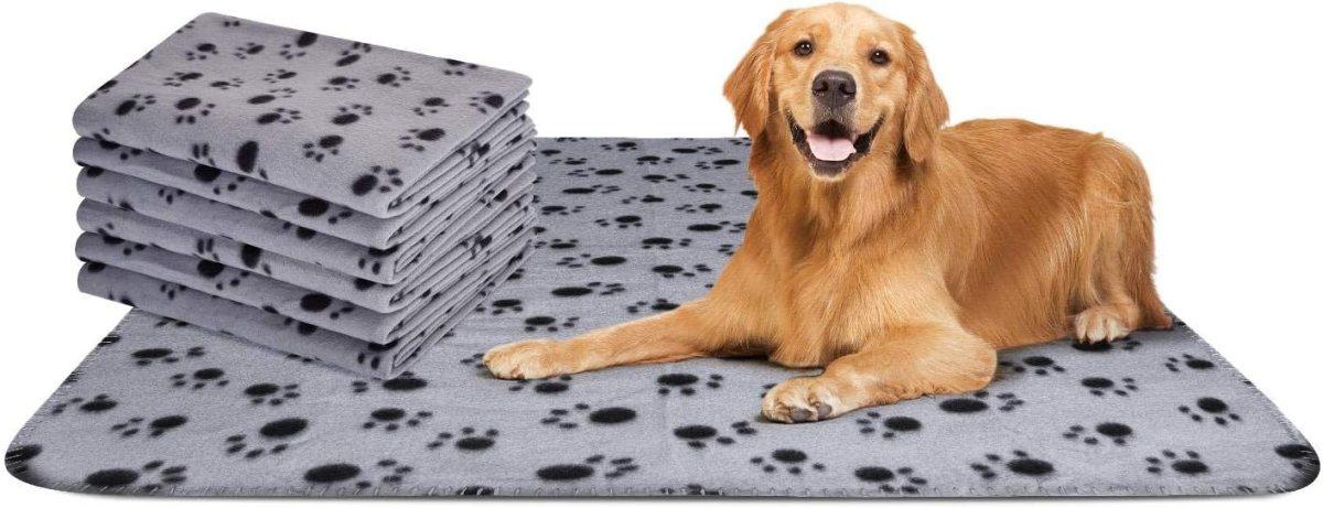 Nobleza – 6 x Manta Suave de Felpa para Perros, Gatos y Otras Mascotas. Lavable. Color Gris, 75 * 75