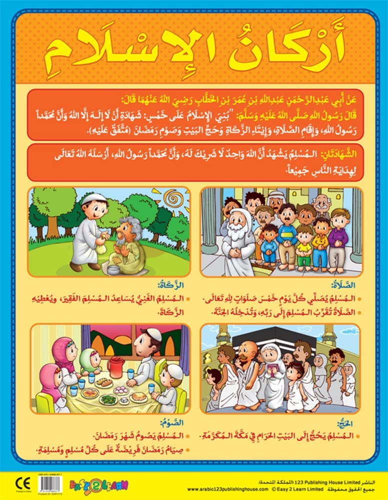 Amazon Com Pillars Of Islam أركان الإسلام Poster Toys Games