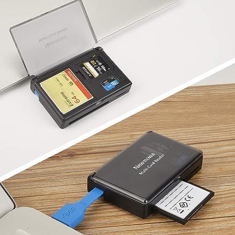 Newmowa 3 in 1 USB3.0 SD/CF/TF カードリーダー メモリカードリーダー 多機能