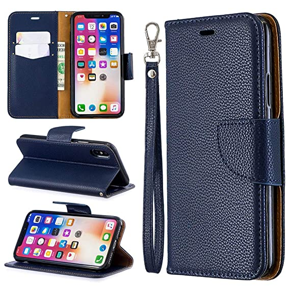 Amazoncom Wallet Cover Classic Retro Case For Iphone X