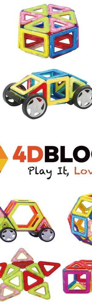 4DBlocks - Play it , Love it! - Magnetic Building Block Set – 40 Pieces