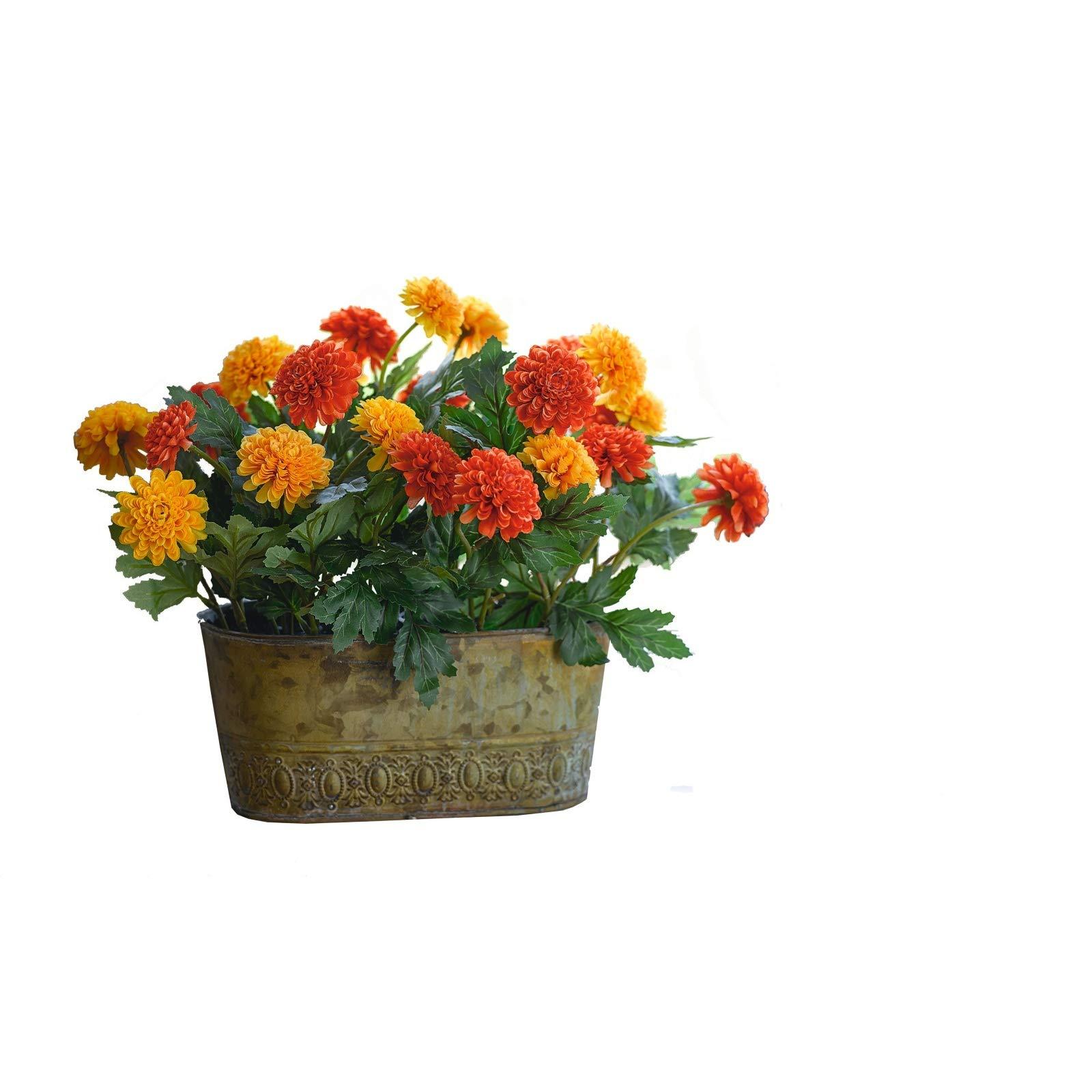 Bloom Artificial Orange Red Marigold T Buy Online In Brunei At Desertcart