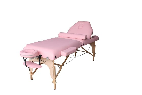 """Best Portable Massage Table By BestMassage 30"""" Pink"""