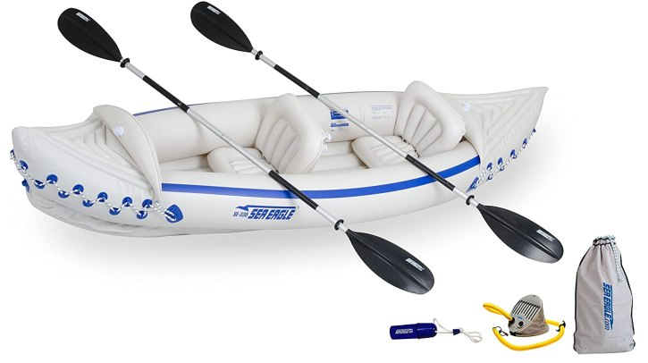 Sea Eagle 330 Inflatable Kayak, 2 Person Inflatable Kayak