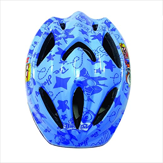 BIG-BEN Strong EPS with thick PVC Shell in Multi-Pattern Professional Bicycle/Cycle Safety Helmet for Boys and Girls (Small, Sky Blue)
