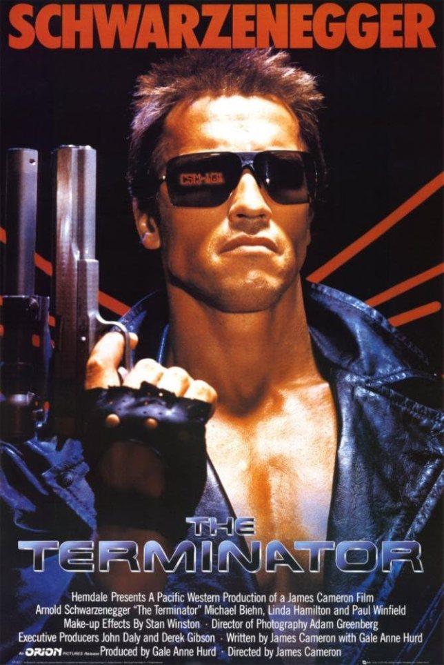 Amazon.com: (24x36) Terminator Movie Arnold Schwarzenegger with Gun 80s  Poster Print: Posters & Prints