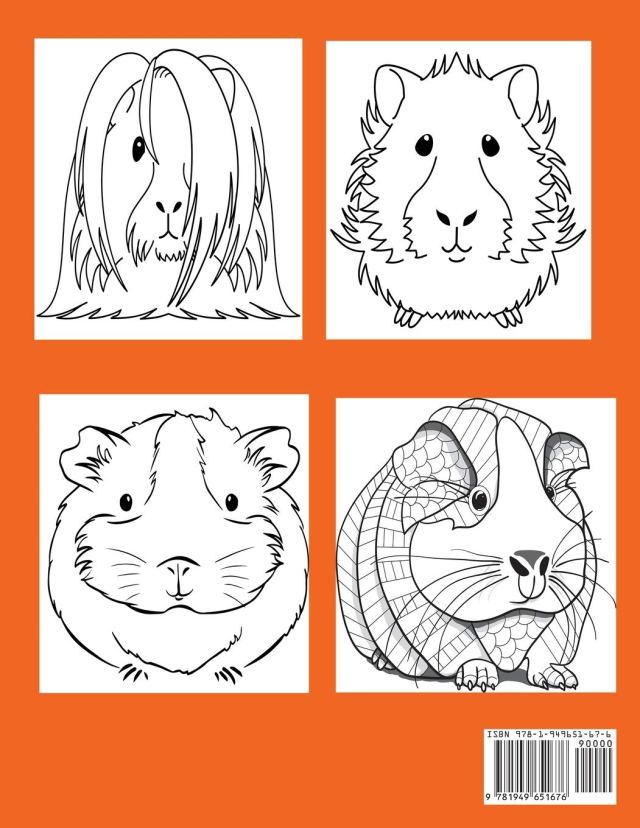 Guinea Pigs Coloring Book: Cute Coloring Book for Kids with Bonus