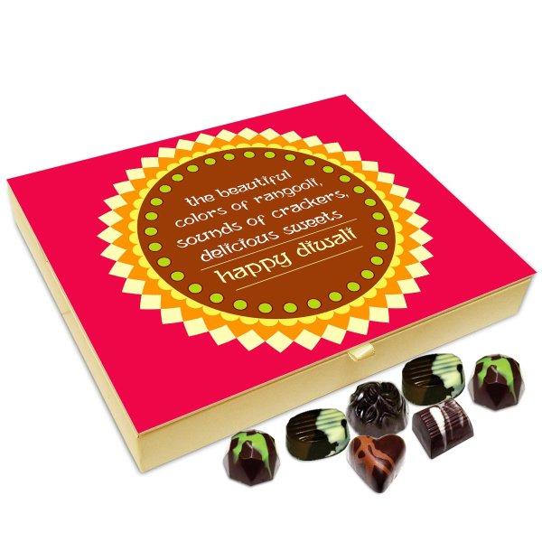 Chocholik Diwali Gift – Light Fire Crackers and Enjoy Diwali to The Fullest Happy Diwali Chocolate Box – 20pc