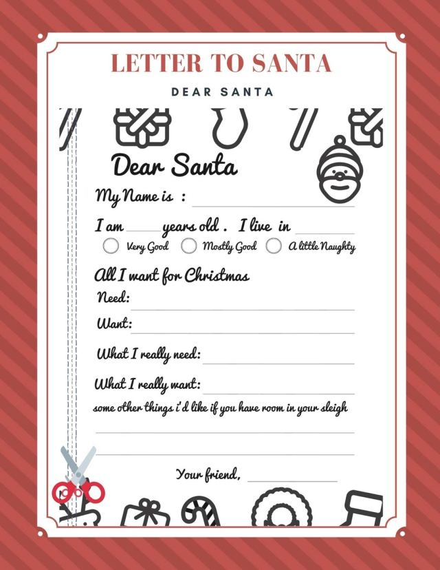 Buy Christmas Letter to Santa: A Fill-In-The-Blank Journal For