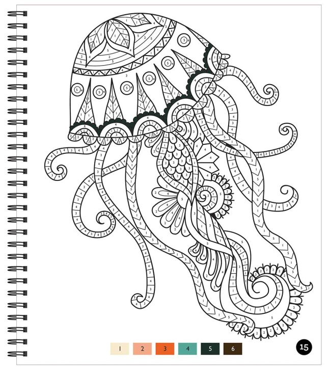 Brain Games - Color by Number: Stress-Free Coloring (Pink
