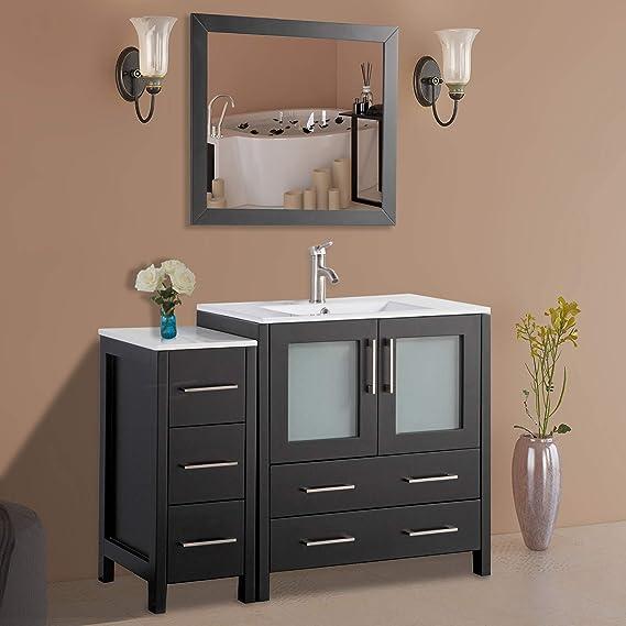Amazon.com: Vanity Art 42 Inch Single Sink Modern Bathroom ...