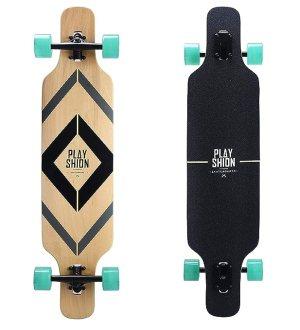 Best Skateboard: Playshion 39 Inch Drop Through Freestyle Longboard Skateboard Cruiser