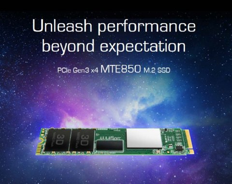 Transcend 3D MLC NAND採用 SSD 512GB M.2 Type2280 PCIe3.0x4 NVMe1.2 TS512GMTE850
