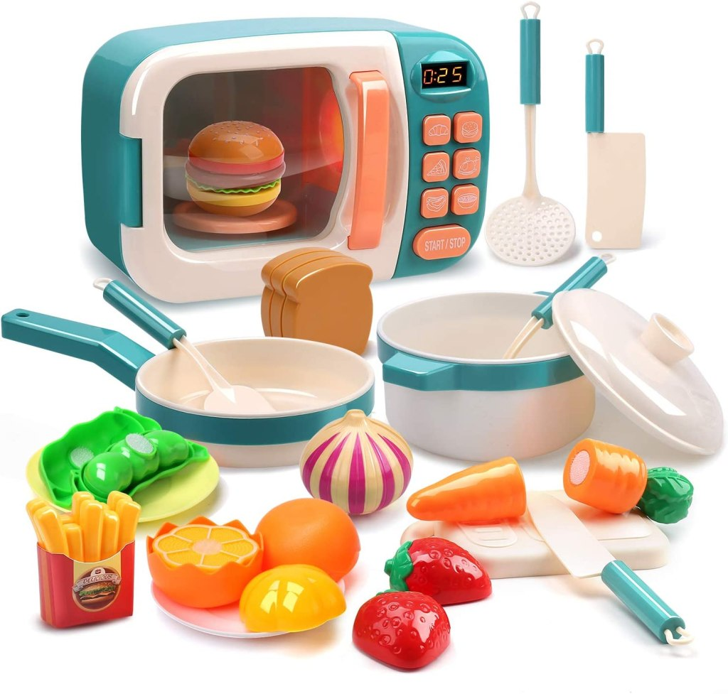 Microwave Toy Kitchen Play Food Set Just  w/ Code