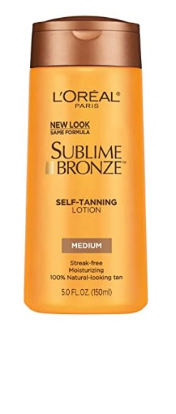 L'Oreal Paris Sublime Bronze Self-Tanning Lotion, Medium, 5 fl. oz.