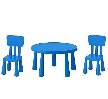 B2c Ikea Mammut Tavolo Per Bambini Blu E Mammut Sedia Per