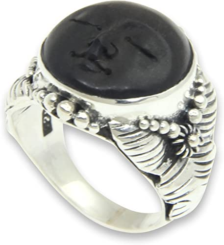 silver black moon ring hipster full moon unique jewelry findings