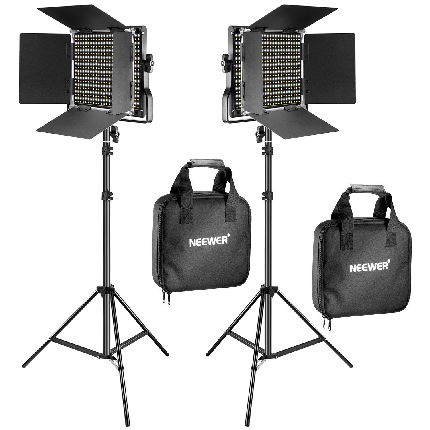 Amazon.com : Neewer 2 Pieces Bi-color 660 LED Video Light and Stand Kit Affordably priced, we use this light kit for fill light when doing more studio style video production.