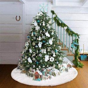 Risultati immagini per gonna bianca per albero di natale