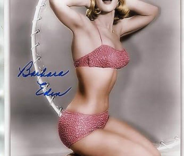 Barbara Eden Signed X Photo Very Sexy Bikinii Dream Of Jeanie