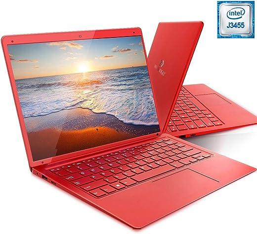 PC-Ordinateur Portable Windows 10 HOME 14.1 Pouces FHD Laptop DUODUOGO X20 Apollo Lake J3455 1920*1080p Notebook 6Go RAM 128Go Stockage/Extension de Carte TF 128 Go ou SATA SSD (14.1'',RAM 6Go, Rouge)