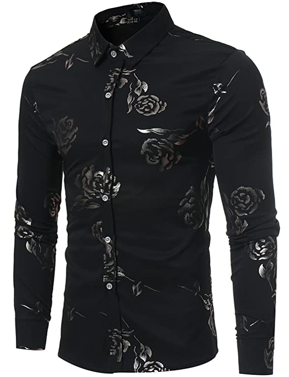 Camisa-negra-decorada-con-flores-formal-masculinahttps://amzn.to/2WInyuT