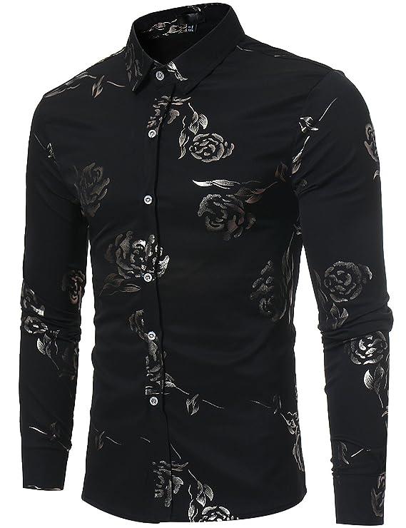 Camisa-negra-decorada-con-flores-formal-masculinahttps://amzn.to/2WInyuT