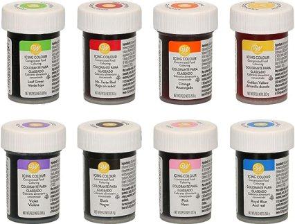 Colorants alimentaires Wilton en set de 8 unités - Édition Tadago