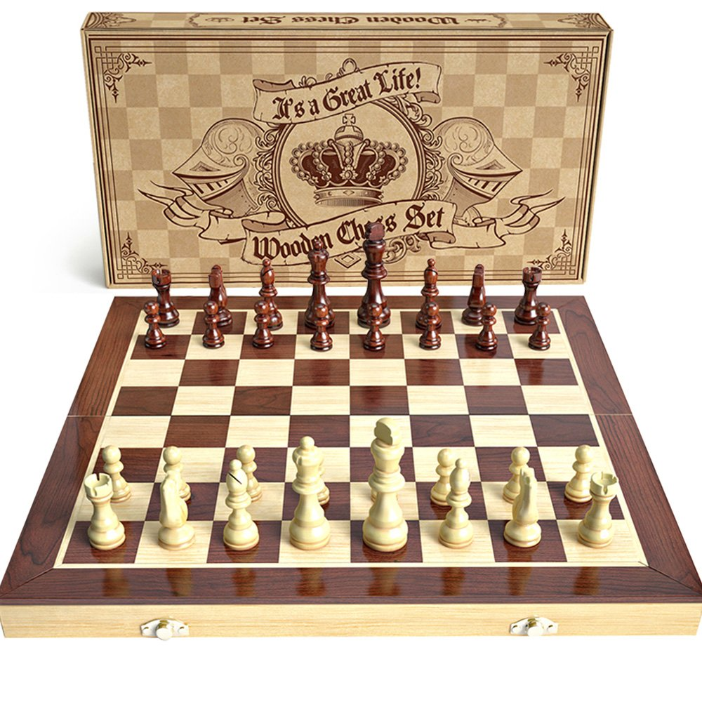 aGreatLife Wooden Chess Board Game
