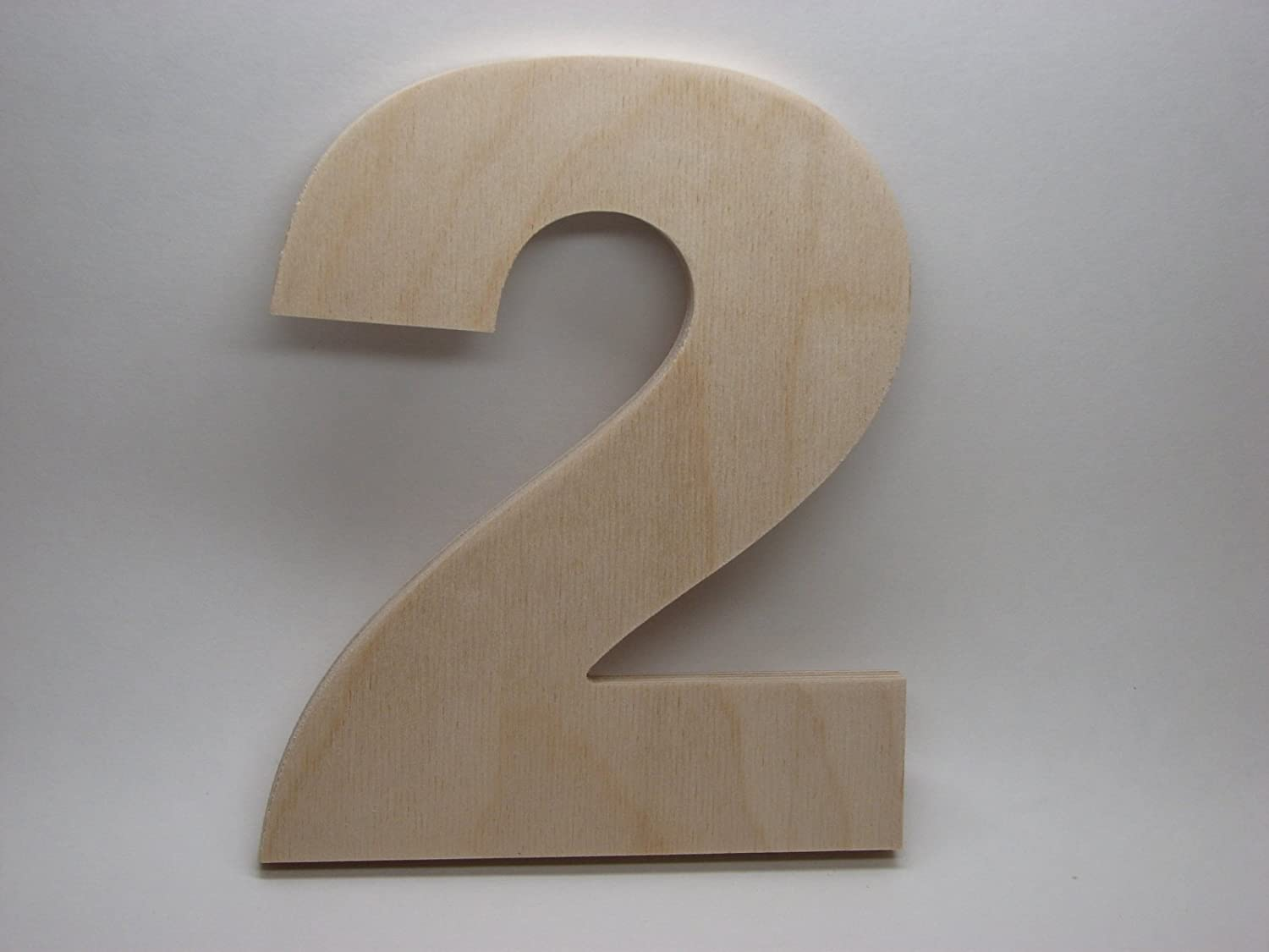 Amazon Com Letterworx 8 Wooden Number 2 Arial Font Unfinished Baltic Birch Wood Letter 8 Inch Tall