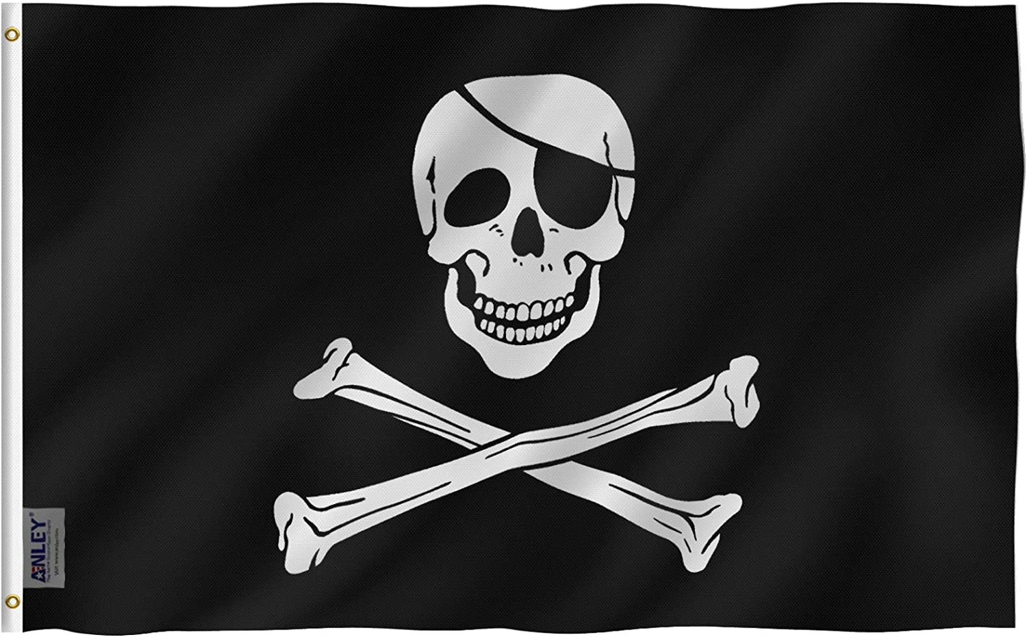 Amazon Com Other Flags Pirate Skull And Crossbones Flag 3 Foot By 5 Foot Polyester Clothing