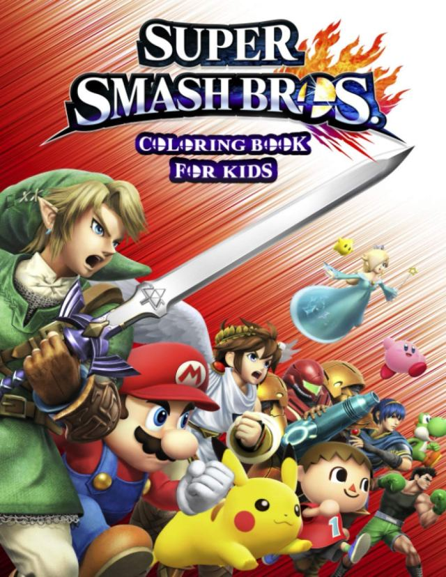 """SUPER SMASH BROS Coloring Book: 5 Pages of High Quality """"SUPER"""