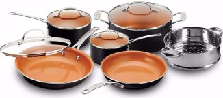 Gotham Steel Pots and Pans 10 Piece Cookware Set with Nonstick Ceramic Coating