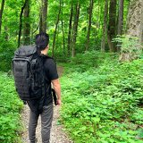 Military Tactical Backpack Rifle Gun Storage Holder Military Survival Trekking Hiking Fishing Rod Bag with Belt Black