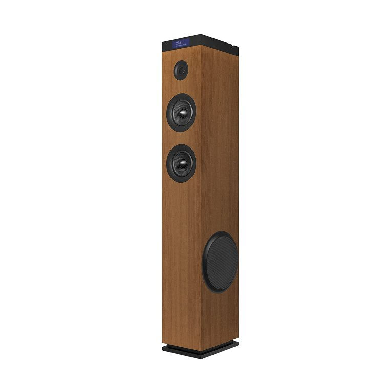 Energy Sistem Tower 8 g2 Wood - Sistema de sonido en torre (120 W, USB/microSD/FM, entrada óptica, LCD display, Bluetooth) marrón