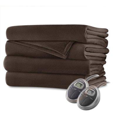 Sunbeam Velvet Soft Plush Heated BlanketBlack Friday Deal