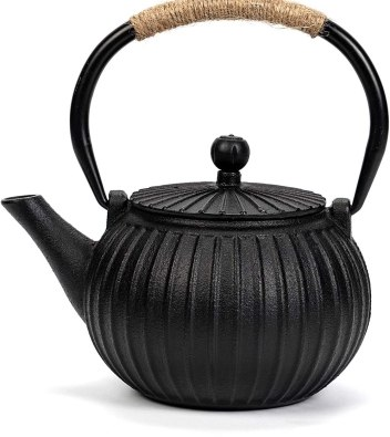 DAMUI Japanese Cast Iron Black Teapot