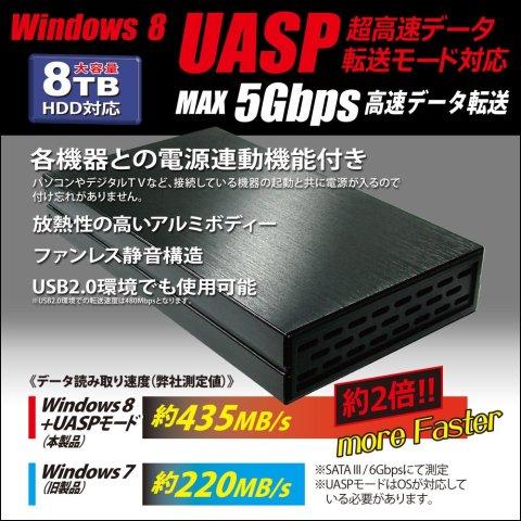 owltech 黒角 OWL-ESL35U3S2-BK UASP 超高速データ転送モード